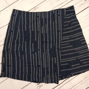Elevenses Anthropologie Womens 4 Shorts Skort Blue
